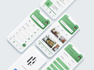 Kairos Kitchen protopie5.0 prototype xd website web ux ui minimal flat branding app