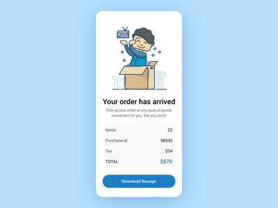 Daily UI 17. Email Receipt ux webdesign ux  ui ux design uxdesign ui  ux uiux ui design uidesign ui