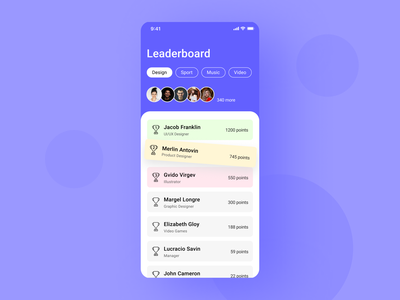 Daily UI 19. Leaderboard ux webdesign ux  ui ux design uxdesign ui  ux uiux ui design uidesign ui