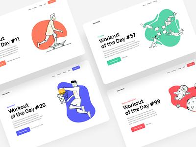 Daily UI 62. Workout of the Day dailyui trends trend website design web design webdesign illustration beautiful popular design popular uxui ux ux  ui ux design uxdesign ui  ux uiux ui design uidesign ui