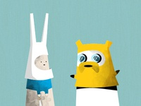 Panda and Rabbit Adventure Time