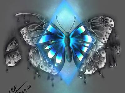 Magical butterfly 🦋 prints t-shirt design illustration design artwork artist digital design digital art illustrator procreate artist procreate x5 life and death magic butterfly art artist support art lovers illustration design art procreate