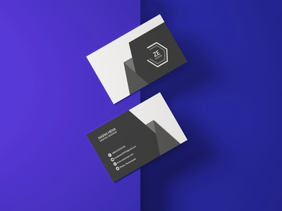 business card zitherena typography logo design business card design