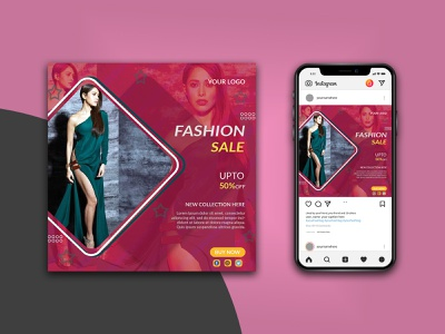 fashion banner typography design banner design