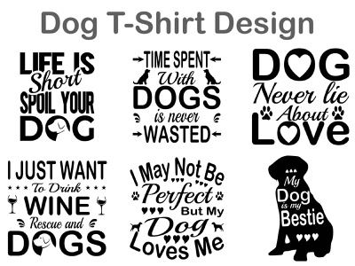Dog T-shirt design typography design t-shirt design