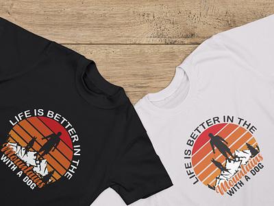 Mountain T-shirt design typography vector design t-shirt design
