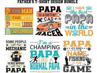Father t shirt design bundle 01 vector design typography t-shirt design
