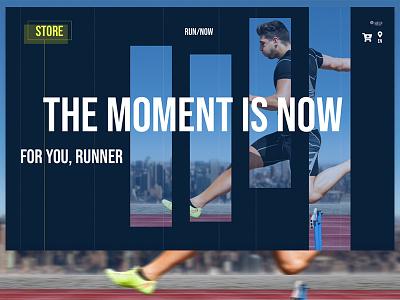 UI Sport Concept desktop concept design ecommerce running sport website