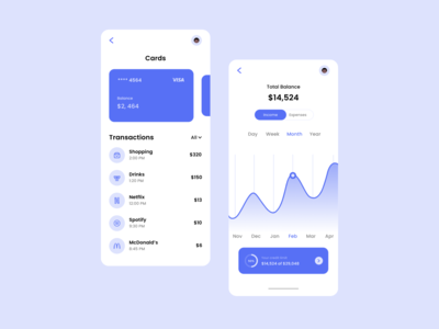 Banking App finance app banking app bankingapp flat ui app design