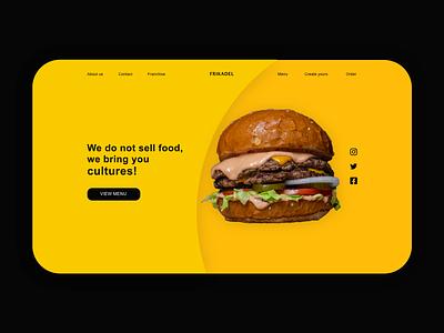 Burgur restaurant minimal website ui/ux design resaurant website web minimal design ui uiux ui design ux design uidesign ui  ux website design webdesign