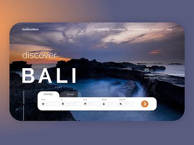 Online booking based in Bali website ui/ux design travelling website travelling agency bali travelling ui ux design ui  ux website design ux design ui design design