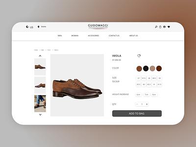 An Italian shoes brand website UI/UX design web design shoes store online shop ui ui  ux ux design website design ui design