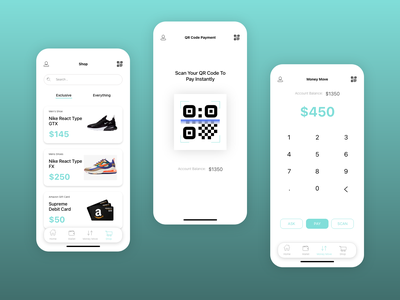 online paymet / digital wallet application UI/UX design app design app ui application design application ui ux design ui design