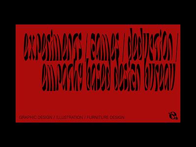Feel More design bureau art direction businesscard design agency type design typogaphy poster art typedesign type typeface custom typography identity logo branding