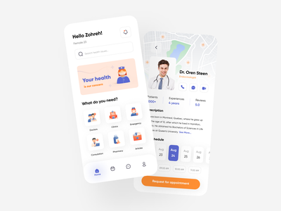 Doctor consultation 👩🏻⚕️ consultation 3d ui uiux app clinic hospital doctor healthcare health healthcare medical app patient app medicine patient app doctor appointment