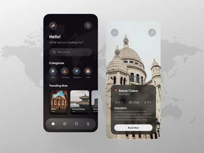 Travel App holiday mobile ux ui traveling travel app travel trip travel services vacation booking