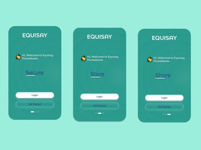 Equisay welcome page design