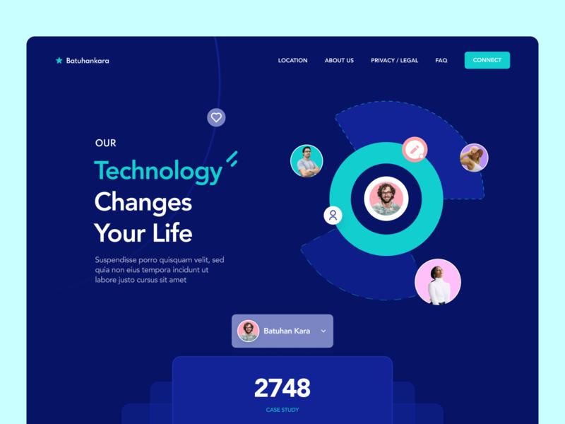 Technology Landing Page design web ui