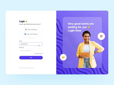 Dashboard: Login saas login login page dash typography web ux ui design saas dashboard login signup login dashboard