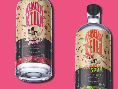 Tequila Killa Branding illustration typography logo design branding
