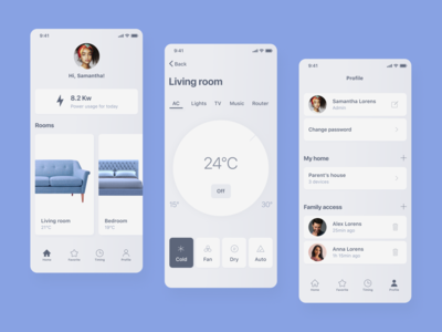 IOS Application Design | SMART HOME app design webdesign ios uiux ui mobile design mobile ios ui kit ios app