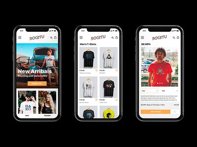 Bocetu's webpage for mobile color identity webdesign ui branding identity branding graphicdesign design
