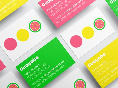 Brand develop for Guayaba, a Venezuelan craft store. bussines card typography identity branding identity icon color graphicdesign design
