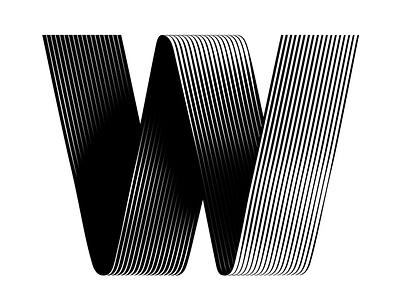W logotype logo graphicdesign typeface type typedesign lines icon typography