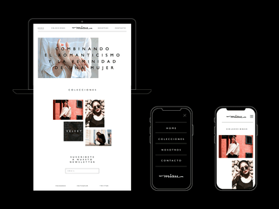 Miau Website userinterface ui logo identity branding typography webdesign design graphicdesign