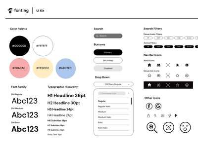 UI Kit for upcoming project. user inteface user experience interface app uxdesign ui icon typography design graphicdesign