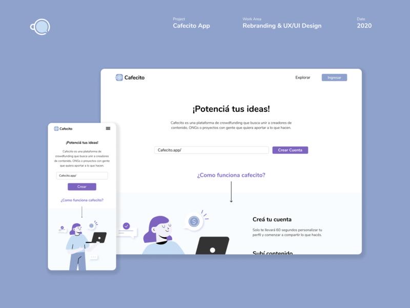 Cafecito App. Rebranding & UX/UI Design. app experience interface webdesign ux ui color branding identity