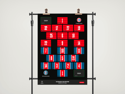 Poster for an atypical (and digital) football final. football poster design typography design graphicdesign