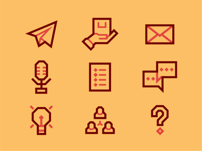 Custom icons for a brand project. vector identity branding identity icon color typography design graphicdesign