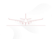 One Line Drawing Airplane