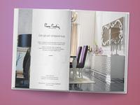 Airplane Magazine - Pierre Cardin Home