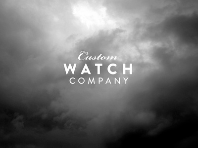 Custom Watch Company logo website debut thanks