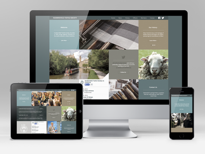 Huddersfield Textile Society web design responsive