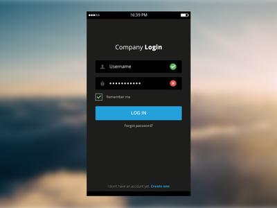 Clean Login Screen login inloggen login screen ui ux button mobile app application inputfield flat clean