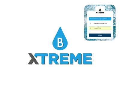 B Xtreme extreme sports xtreme extreme water company logo company fake logo sport watersport logo
