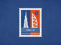 Post stamp Dubai