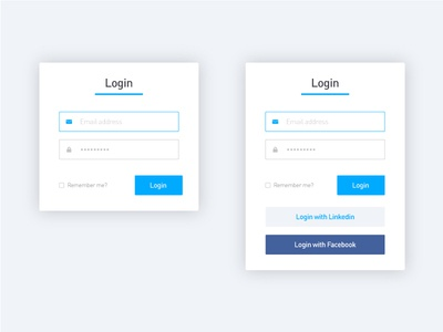 Log In pop-ups small form login form user interface login with facebook log in ux ui login screen pop-up login