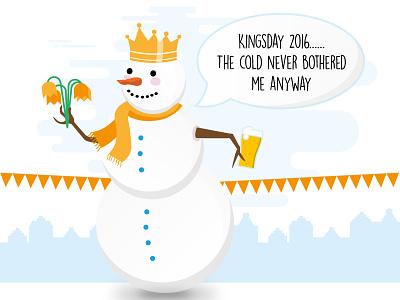 Cold Kingsday 2016 nederland orange snowman cold kings birthday holland dutch party beer tulips koningsdag kingsday