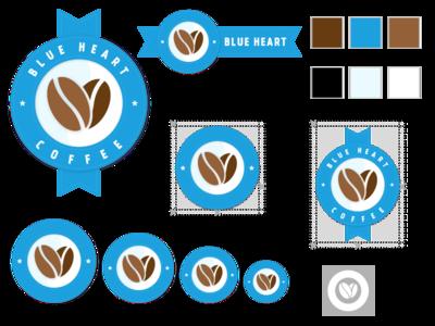 Blue Heart Coffee coffee beans company fake logo logo styling logo coffee beans blue heart coffee coffee coffee logo logo guidelines stylesheet coffee company
