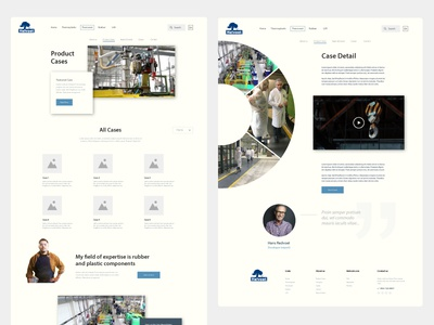 Product cases page concept, Helvoet (Industrial, clean) wireframe website case detail product cases interface design ui interface webdesign 2017 clean web design concept website industrial clean webdesign