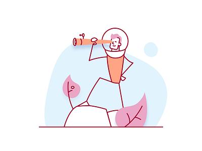 Website illustrations vector design branding 2d startup innovation mockup landing page website illustration