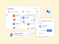 Product focuses illustration innovation startup app landing page marketing design product website