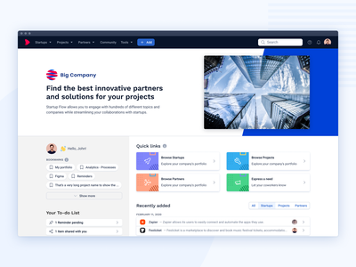 New homepage website innovation startup ux design product dashboard homepage webapp