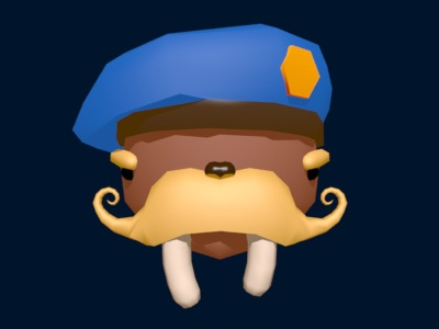 Colonel Walrus - Smooth game design character design walrus modeling lowpoly colonel character 3dsmax