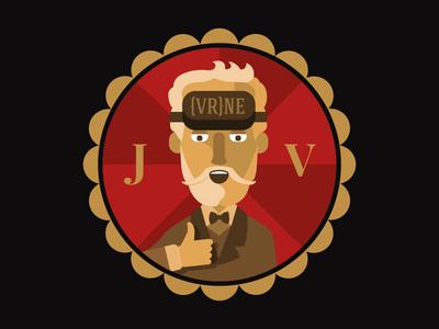 Jules {VR}NE patch vintage vr flat illustration verne jules game design