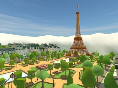 Champ-de-Mars champ de mars eiffel tower vr experience jules verne phileas fogg 3d modeling game design hot air balloon eiffel paris vr lowpoly